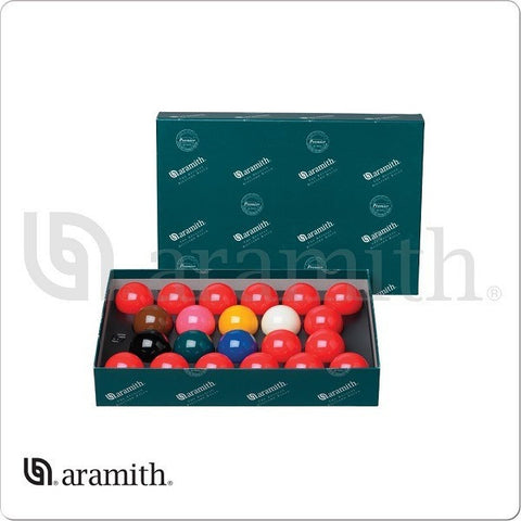 "Aramith Billiards Balls - BBAES2.125 - Premier 2 1/8"" English Snooker Set - absolute cues"