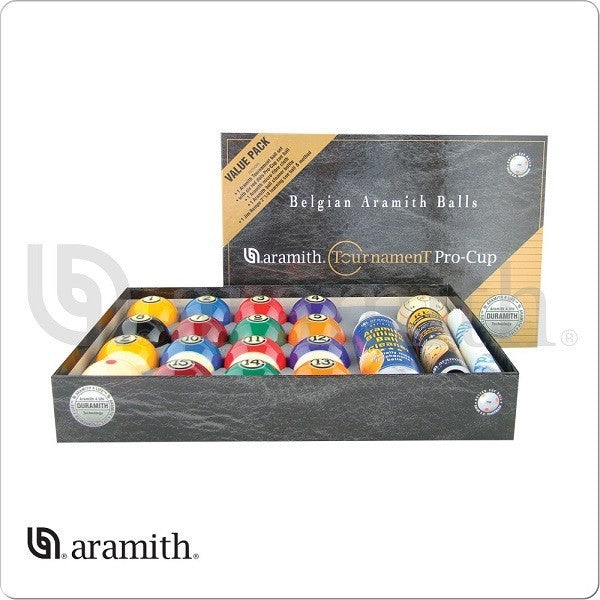 Aramith Billiards Balls - BBATVP - Tournament Pro Cup Value Pack - absolute cues