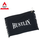 free hustlin towel if selected - absolute cues