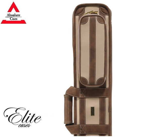 Elite Pool Cue Case 4x8 Vintage Chestnut Soft Case