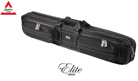 Elite Pool Cue Case 4x8 Vintage Black Soft Case