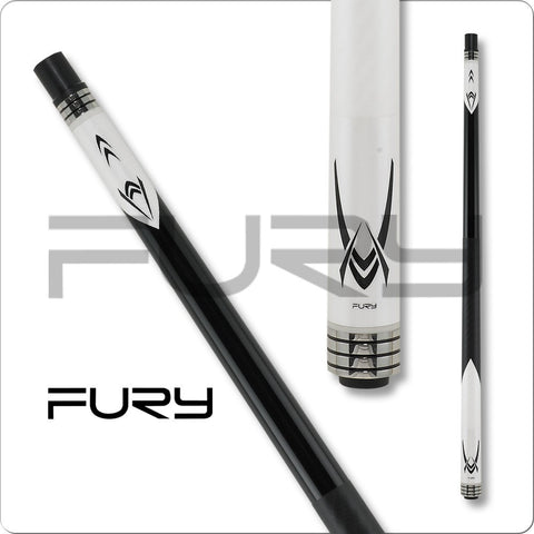 Fury Pool Cues - Break Cue - White and Black - FUBKA - ZR Break Shaft - absolute cues