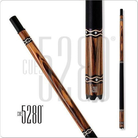 5280 Pool Cues - Pool Cue - GEM03 - Bocote - Black Leather Wrap - absolute cues