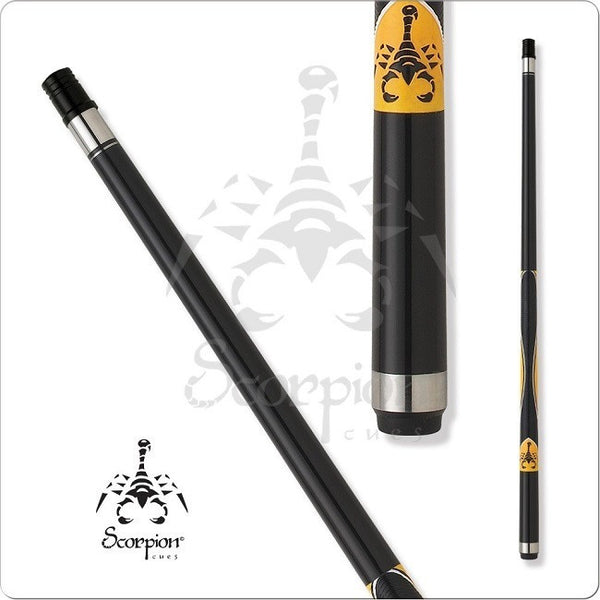 Scorpion Pool Cues - Sports Grip - GRP02 - Scorpion Yellow Design - absolute cues