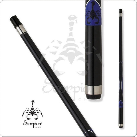 Scorpion Pool Cues - Sports Grip - GRP04 - Scorpion Blue Design Grip - absolute cues