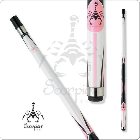 Scorpion Pool Cues - Sports Grip - GRP6 - Scorpion White and Pink Grip - absolute cues