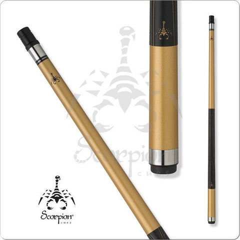 Scorpion Pool Cues - Sports Grip - GRP10 - Golden Scorpion Cue - ABSOLUTE CUES