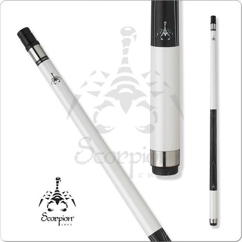 Scorpion Pool Cues - Sports Grip - GRP13 - Scorpion All White - absolute cues