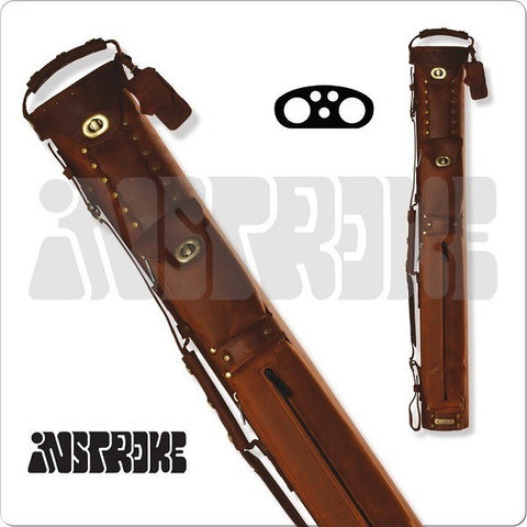 InStroke Pool Cue Case - 2x3 - ISB23 - Buffalo Leather Cue Case - absolute cues