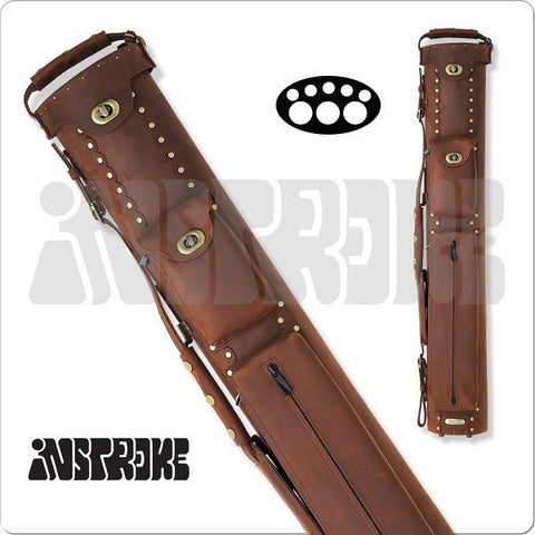 InStroke Pool Cue Case - 3x5 - ISB35 - Buffalo Leather Cue Case - absolute cues