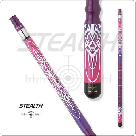 Stealth Pool Cue - Ergonomic Grip, STH10, Tribal Overlays - absolute cues