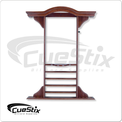 8 Cue Deluxe Crown Wall Rack - Multiple Stain Choices