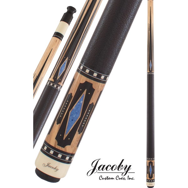 Jacoby Pool Cues, HB5 Olivewood W/Black Leather Wrap, Low Deflection - absolute cues