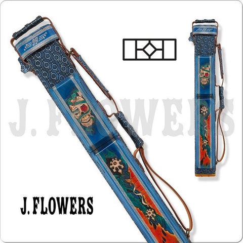 J. Flowers Pool Cue Case - JFC01 - 2x4 Pool Cue Case - Skulls - absolute cues