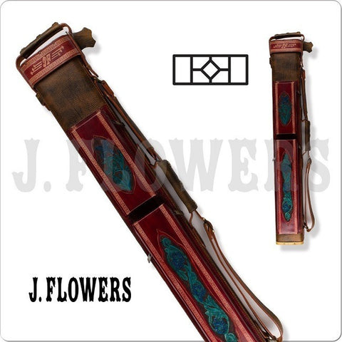 J. Flowers Pool Cue Case - JFC07 - 2x4 Pool Cue Case - Brown - absolute cues