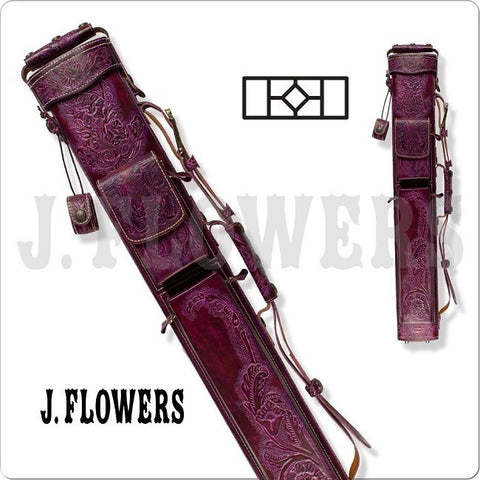 J. Flowers Pool Cue Case - JFC08 - 2x4 Pool Cue Case - Purple - absolute cues
