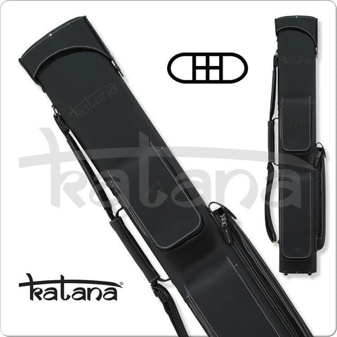 Katana Cue Case - KATC03 - 2x4 - Charcoal Leather Hard Cue Case - absolute cues
