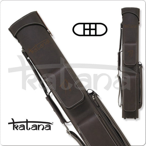 Katana Cue Case - KATC03 - 2x4 - Chestnut Leather Hard Cue Case - absolute cues