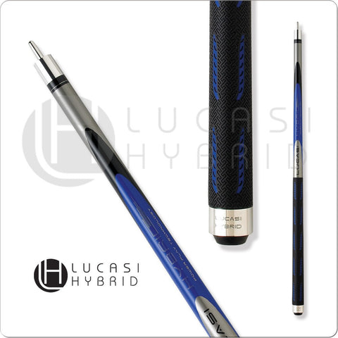Lucasi Pool Cue - Lucasi Hybrid - LH10 - Blue, Black, G5 Grip, Uni-Loc - absolute cues
