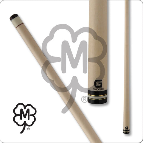 McDermott Pool Cue Shaft - G-Core - White Collar and Gold Rings - absolute cues