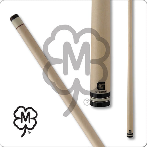 McDermott Pool Cue Shaft - G-Core - White Collar and Silver Rings - absolute cues
