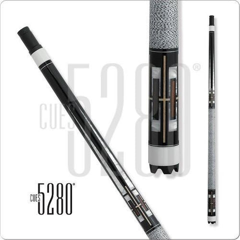 5280 Pool Cues - Pool Cue - MH15 - Ebony Stained - White Wrap - absolute cues