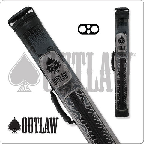 Outlaw Pool Cue Case - OLB22B - 2x2 - Grey Tire Tread Hard Cue Case - absolute cues