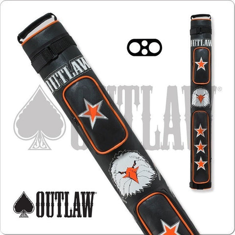 Outlaw Pool Cue Case - OLB22C - 2x2 - Stitch Eagle Hard Cue Case