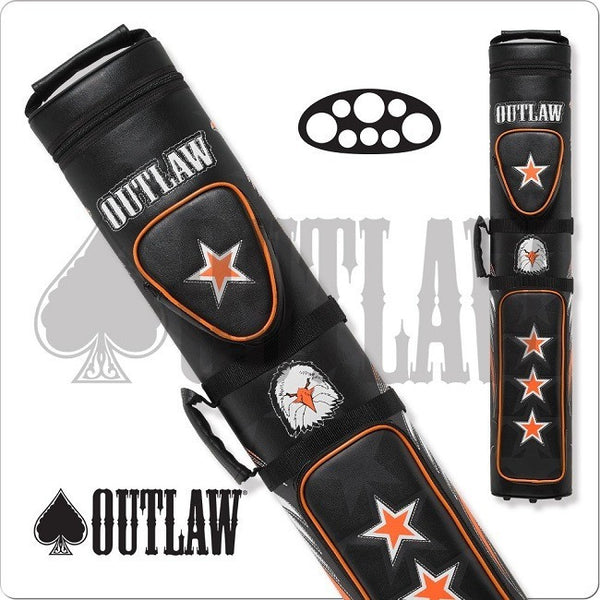 Outlaw Cue Case - OLB35C - Stitched Eagle 3x5 Hard Cue Case - Absolute cues