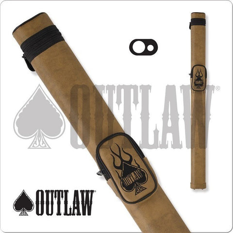 Outlaw Pool Cue Case - OLH13 - 1x1 Hard Cue Case Flame Design - absolute cues