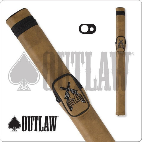 Outlaw Pool Cue Case - OLH12 - 1x1 Hard Cue Case Guns Design - absolute cues