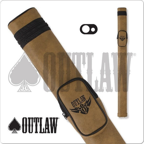 Outlaw Pool Cue Case - OLH11 - 1x1 Hard Cue Case Wings Design - absolute cues