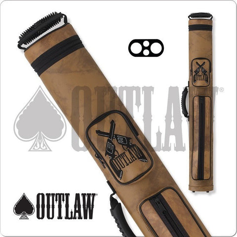 Outlaw Pool Cue Case - OLH22 - 2x2 Hard Cue Case Guns Design - absolute cues