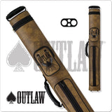 Outlaw Pool Cue Case - OLH22 - 2x2 Hard Cue Case Flames Design - absolute cues