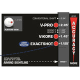 Viking Exactshot Shaft - Pure Performance Low Deflection Cue Shaft - absolute cues
