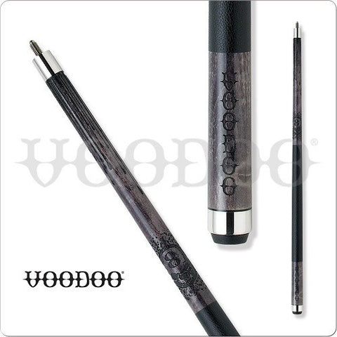 VooDoo  Pool Cues - VOD14 - Grey Stained Skull With 8 on Forehead - absolute cues