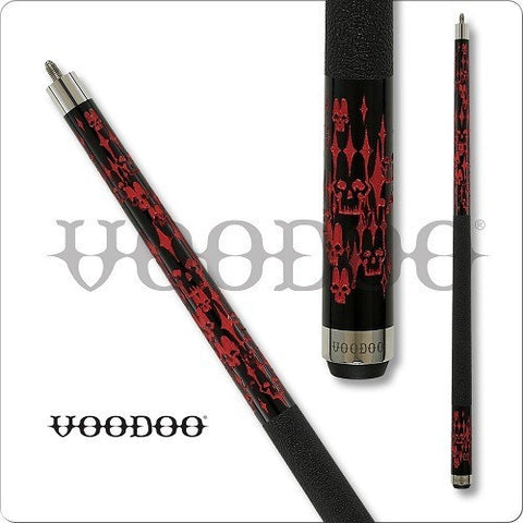 VooDoo  Pool Cues - VOD23 - Mortality Brigade Paint Design - absolute cues