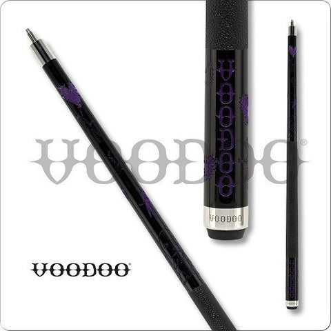 VooDoo  Pool Cues - VOD27 - Black VooDoo Doll Design - Purple - absolute cues