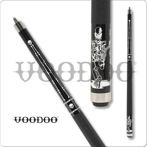 VooDoo  Pool Cues - VOD32 - Black Stained - White VooDoo Man - absolute cues