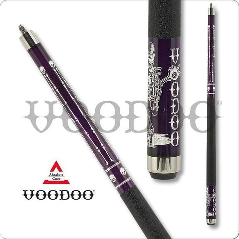 VooDoo Pool Cues - VOD33 - Purple Stain - Charmed Voodoo Man