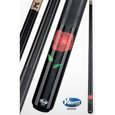 Specialty Pool Cues By Viking - Wild Rose - Viking DeCues - V PRO - www.absolutecues.com