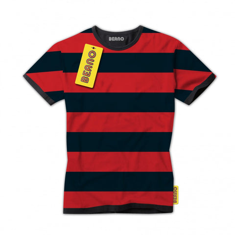 Dennis the Menace Striped Grown-Ups T-Shirt - Beano Shop