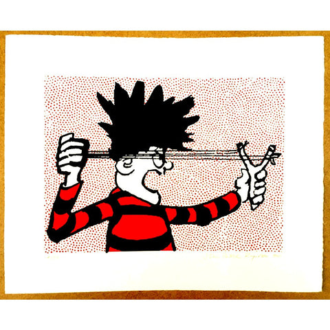 Dennis the Menace Catapult Print - Beano Shop