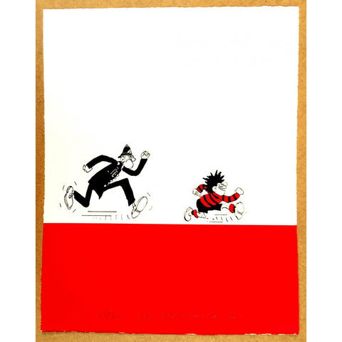 Dennis Chased by a Copper Print - Beano Shop