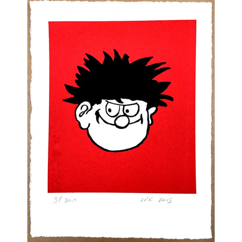 Dennis the Menace Face Print - Beano Shop