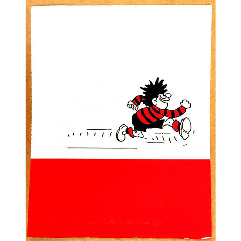 Dennis the Menace Runs Print - Beano Shop