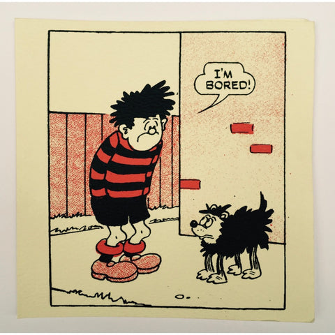 Dennis the Menace is Bored Greeting Card - Beano Shop