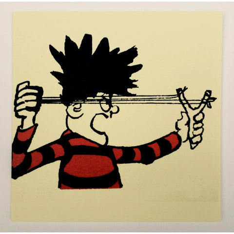 Dennis the Menace Catapult Greeting Card - Beano Shop