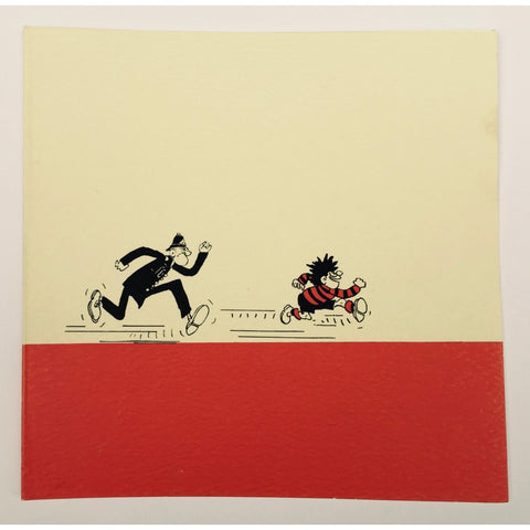 Dennis Chased by a Copper Greeting Card - Beano Shop