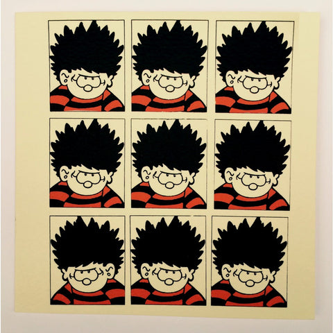 Dennis the Menace Face Collage Greeting Card - Beano Shop
